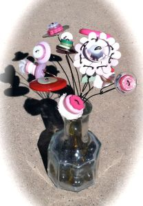Original Button Bouquet by Liz