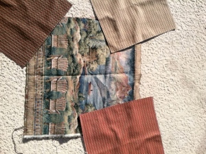 sample panels from SAS Fabrics Superstore