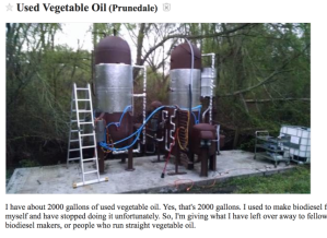 free used vegetable oil